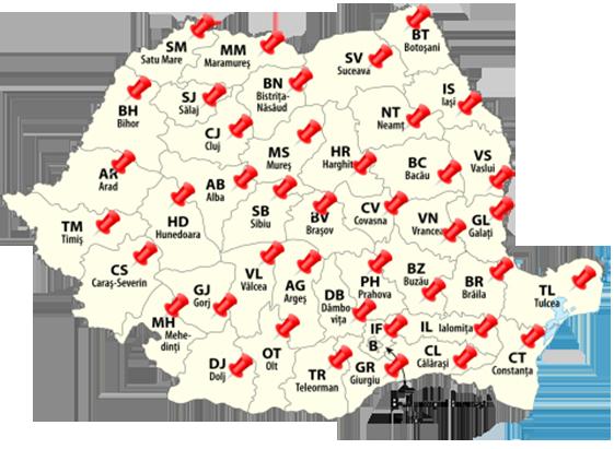harta distributie